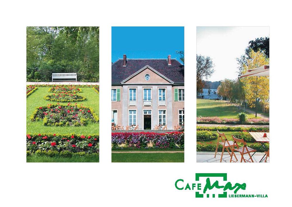 Drei Garten-Fotos