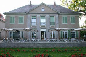 Blick auf die Villa