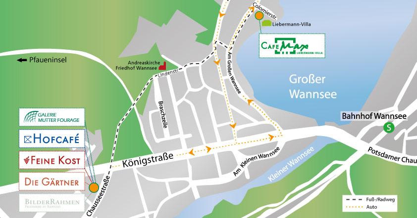 Lageplan Wannsee